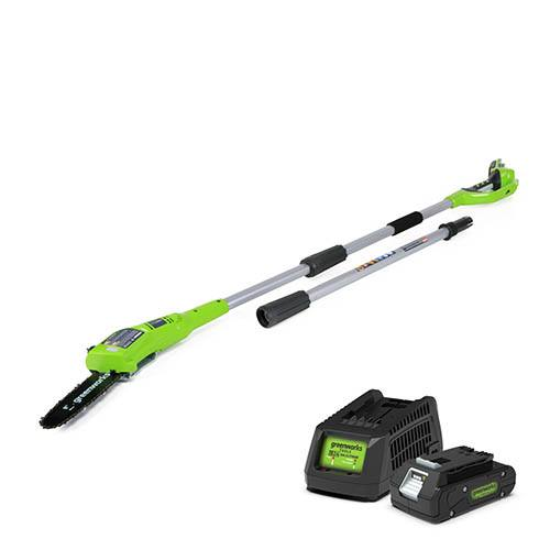 Greenworks 24V Polesaw with 2Ah Battery and Charger