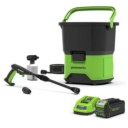 40V Cordless Pressure Washer with 4Ah Battery & Charger