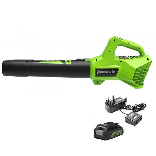 24V Variable Speed Cordless Blower with 2Ah Battery & Economy Charger