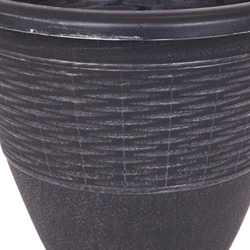 Pair 13 Wicker effect Black Silver Planters