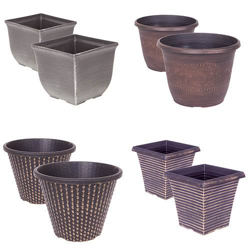 Festive Silver & Gold Planter Collection
