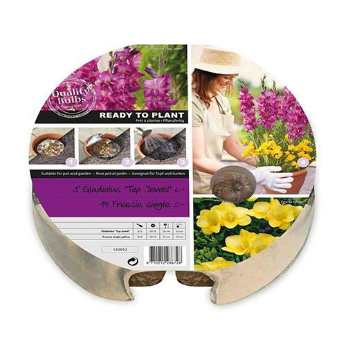 Pair of Summer Plant-O-Mat Bulb Pods with Valencia Planters