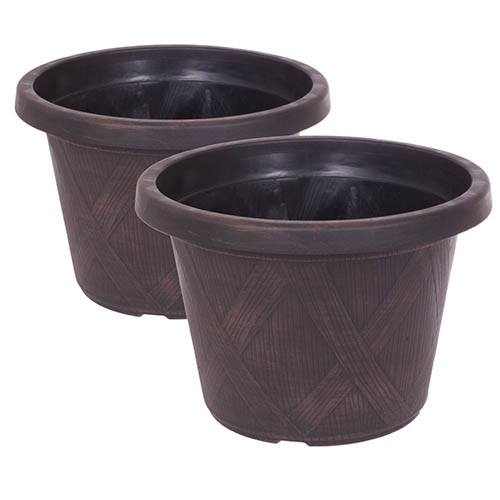 Pair of Cherry Bush Porthos with Mahogany Planters