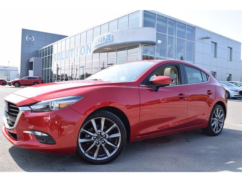 2018 Mazda  Mazda3 Sport GT Auto CUIR  IMPECCABLE NAVIG