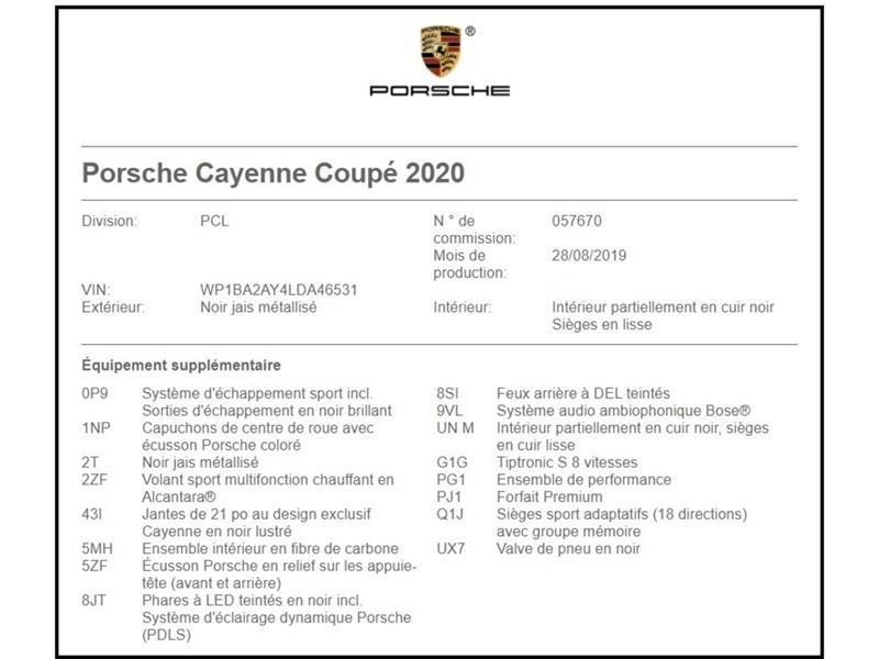 Porsche Cayenne Sport exhaust System, Premium  2020