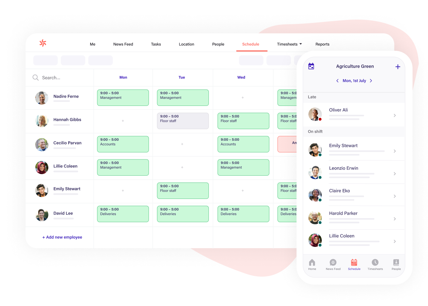 Scheduling software for agriculture