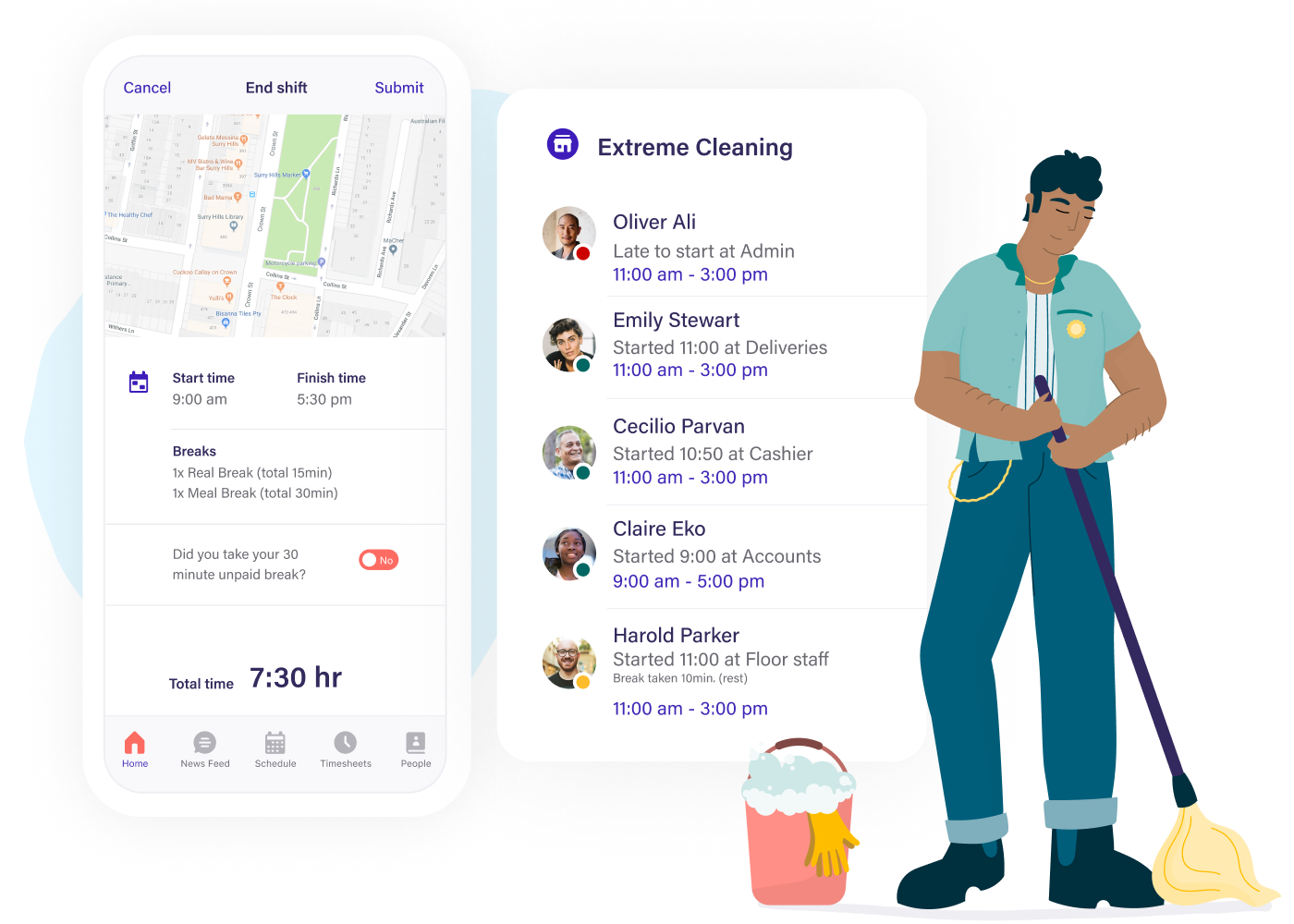Scheduling software for cleaning services