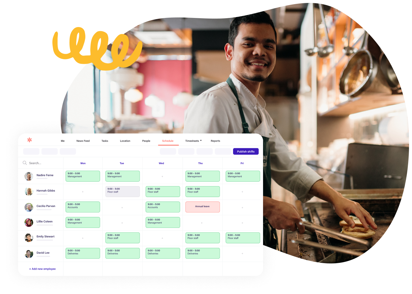 Scheduling software for hospitality teams
