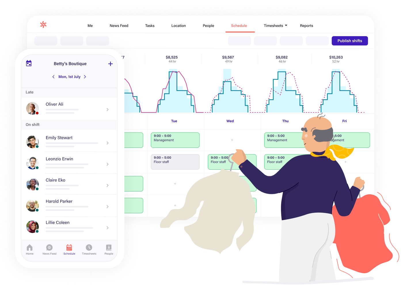 Scheduling software for retail teams