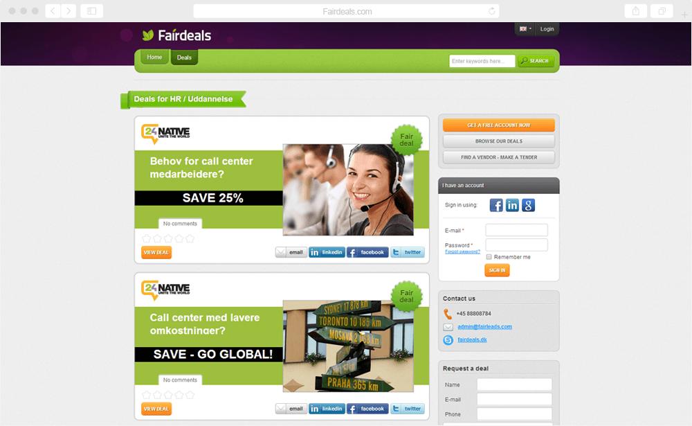Fair Deals - B2B sales