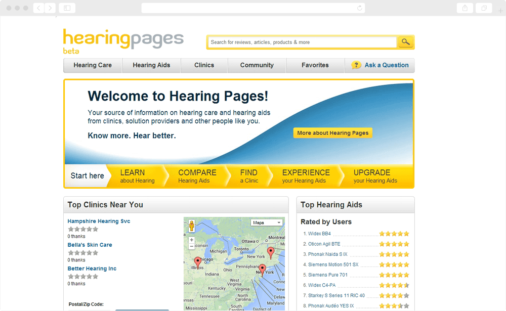 Hearing Pages - healthcare multi-sided platform