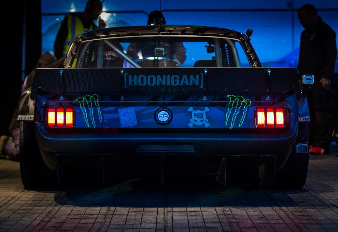 SO happy to be back in the Hoonicorn this week for @GymkhanaGRID in the UK. Any time away from this car is too much time away from this car! #GymkhanaGRID #Hoonicorn #datbootysomoody