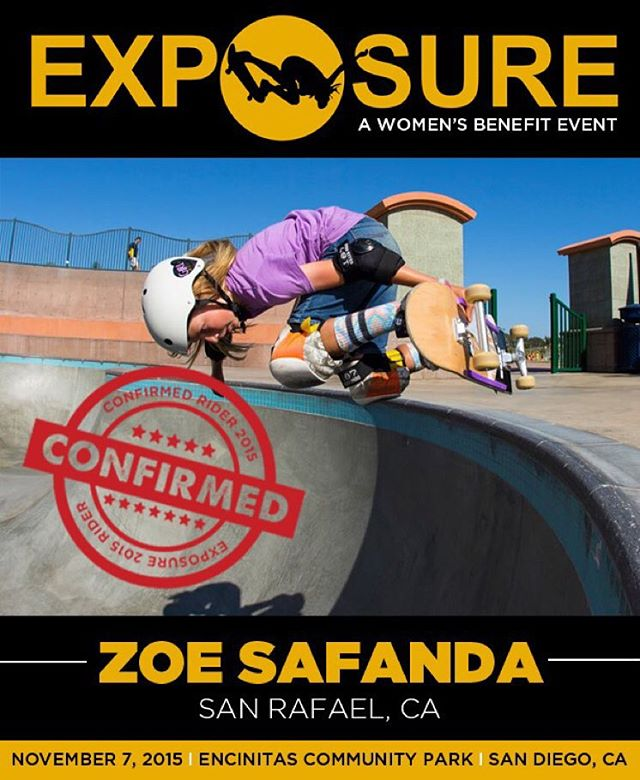 Zoe Safanda (@zoesk8z) confirmed for EXPOSURE 2015!