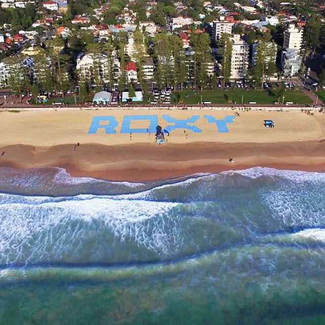 Here we go! #RUNSUPYOGA Manly Beach is ON. If you can't join us, follow the fun in the feed or on our ROXY snapchat