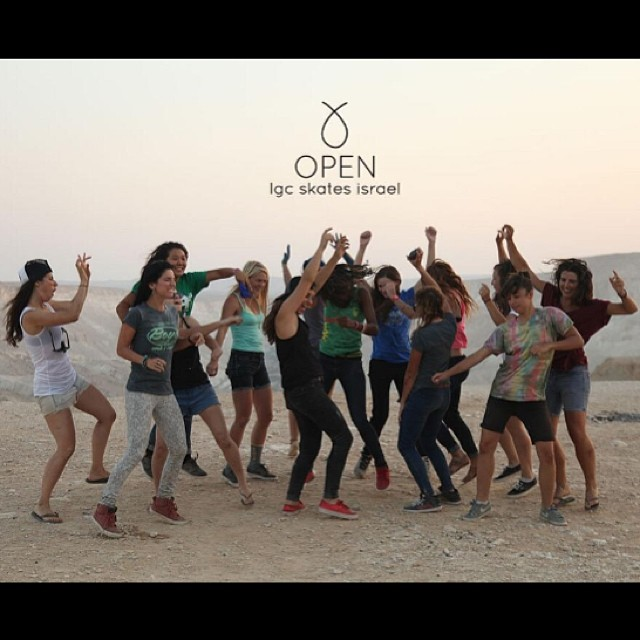 Yes, we also dance @valeriakechichian @cocomarii @cindyzskates @jennarus @amandapowellskate @kateslynne @ishtarlgc @camibeast #MicaelaWilson @g_mdz @cristinamandarinaa @jackymadenfrost @gadoreitor & @eiderwalls rocking an #Israel crater with style....