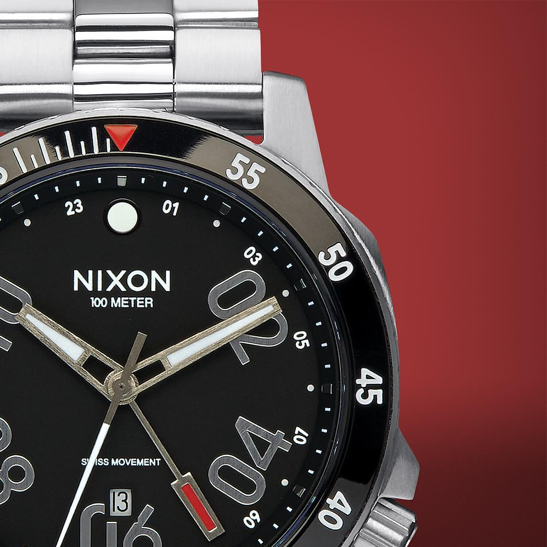 Featuring Swiss GMT world time with rugged military inspired construction, the #RangerGMT is new and now and built for life without borders. #NixonNow