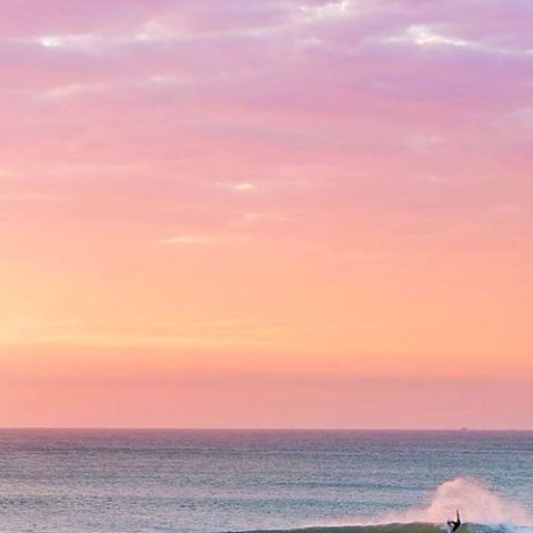 CLEAR LINES AND COTTON CANDY SKIES #luvsurf #surf #sunrise #sunset #sessions #shwack