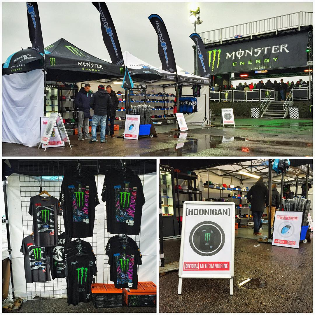 If you're here at Santa Pod Raceway for the @GymkhanaGRID final this weekend, be sure to stop by the Freestyle Extreme booth - they're carrying all kinds of dope Hoonigan gear. Five best selfies win a high-five emoji comment from me, just tag...