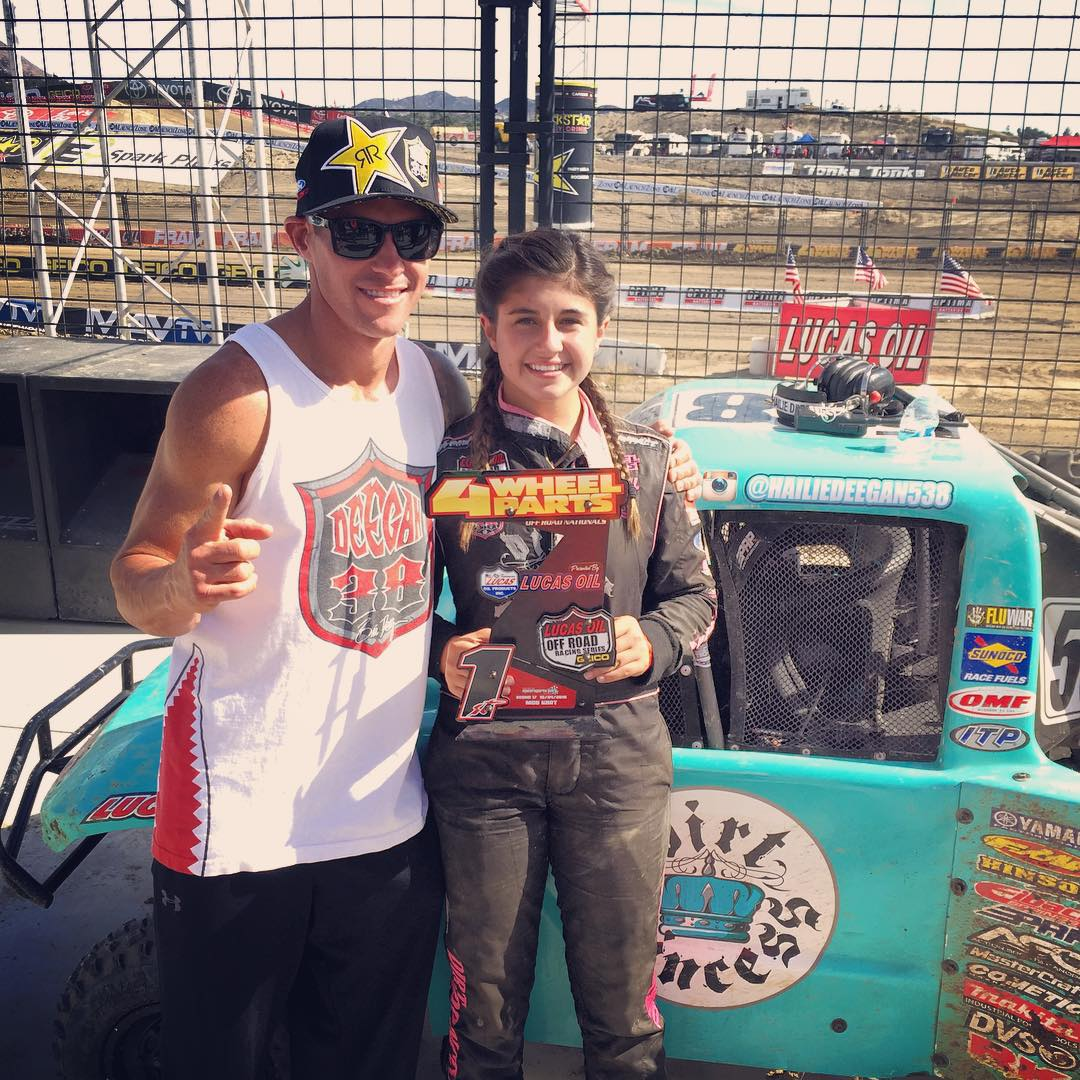 @hailiedeegan538 taking home the win today at @lucasoiloffroad ☝