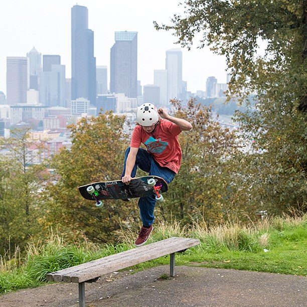 A boneless in Seattle with Devon Dotson on the Keystone today before the rain ended the session.