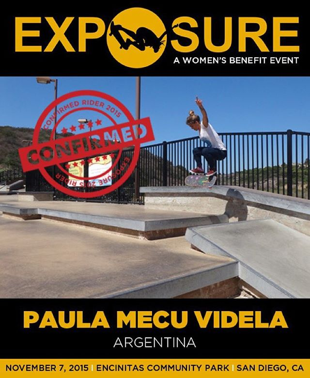 Paula Mecu Videla (@mecuskate) confirmed for EXPOSURE 2015!