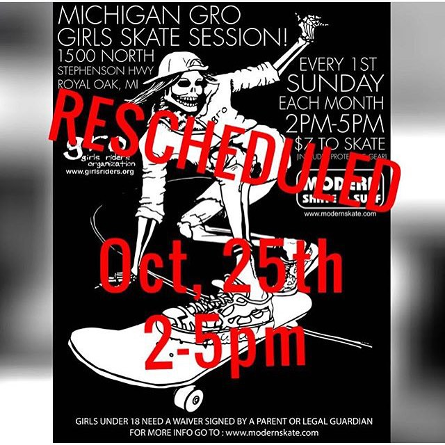 Session today with @michigangrocrew and @modernskate Come through!! #ridetrue #comeshredwithus