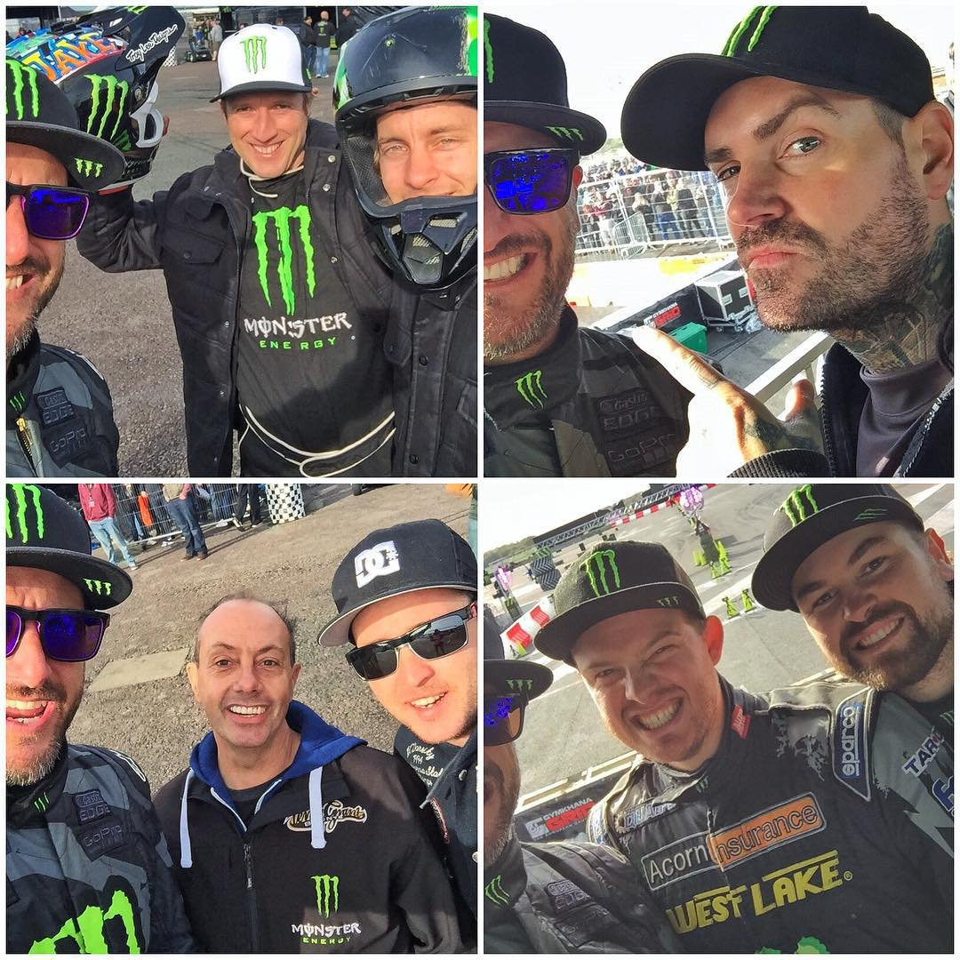 #SelfieSunday out here at the @GymkhanaGRID Final! Tap the photo to see who's who. #GymkhanaGRID #goodtimesgoodpeople