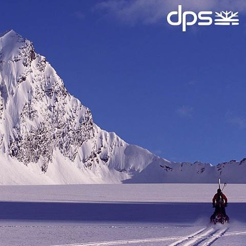 Mark Smith sleds into what became a fine day. Valdez, AK. 2005. Photo: @oskar_enander. #PowderRoad #dpsroots