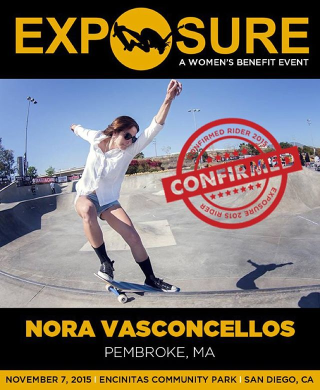 Nora Vasconcellos (@noravexplora ) confirmed for EXPOSURE 2015!