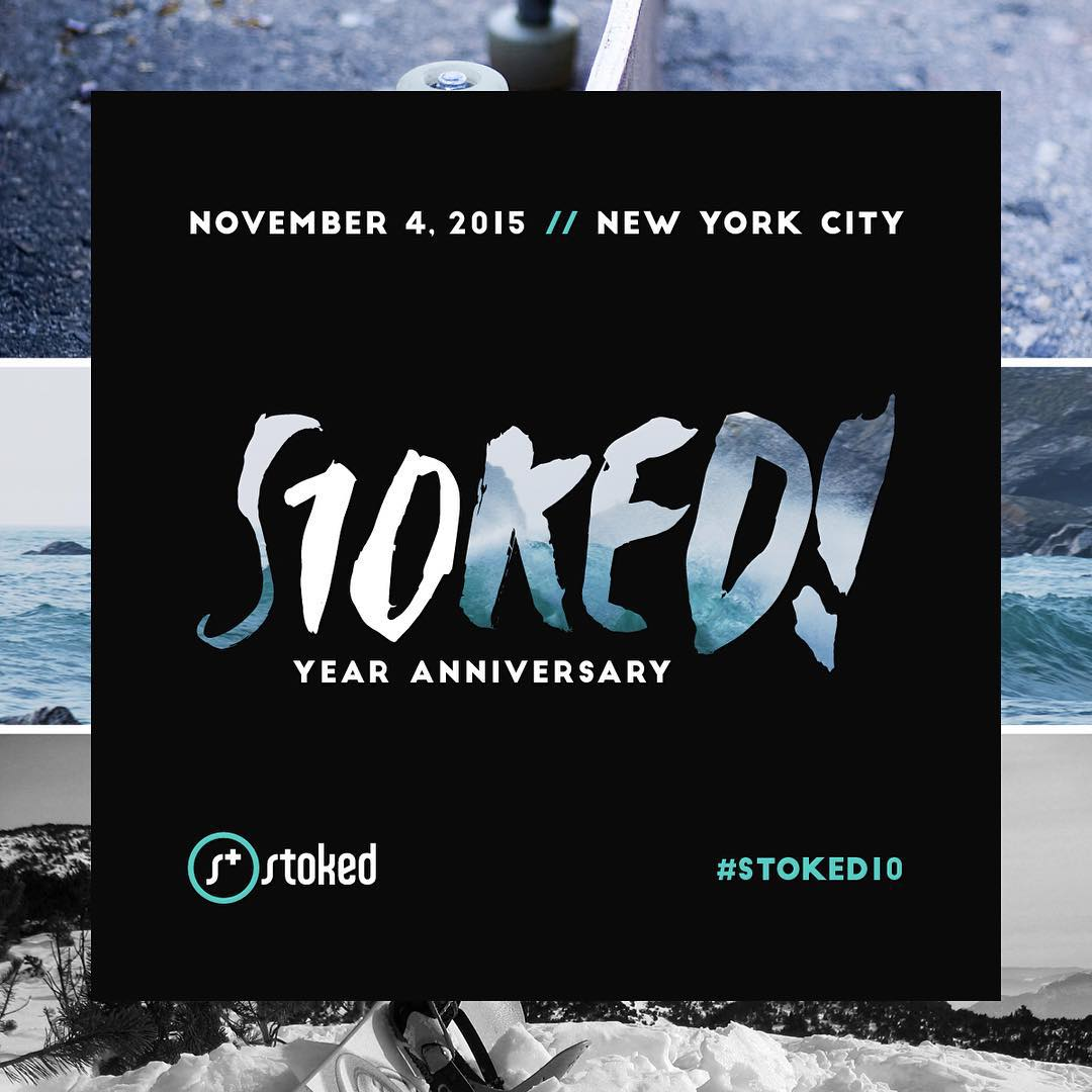 We're having a party! Join us to celebrate @stokedorg's 10 year anniversary. Click on the link in our bio for more details and get your tickets! #STOKED10