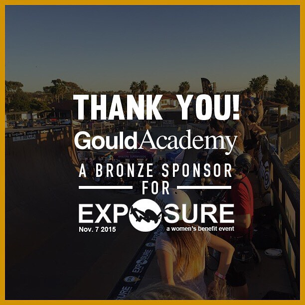 Thank you to @gouldacademy confirmed to be a bronze sponsor for Exposure 2015!! There are plenty of partnership opportunities still available, email partnerships@exposureskate.org to find out how you can help empower girls through skateboarding!