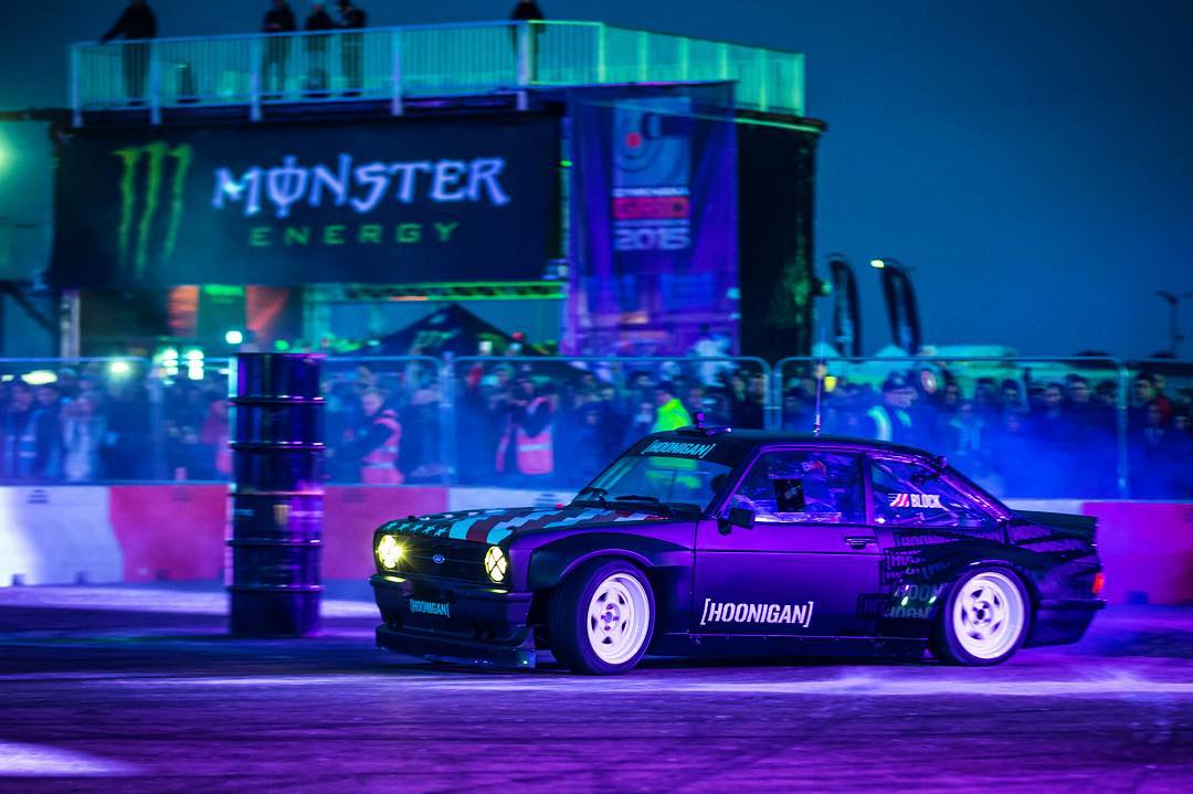 BIG congrats to my buddy and Hoonigan teammate @RyanTuerck for giving our new Hoonigan Ford Escort Mk2 RS Gymkhana racecar her maiden win here at @GymkhanaGRID in the UK! @LukeWoodham1 put up a really good fight and won the RWD class, but in the end...