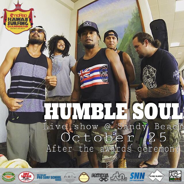 We have the Hawaii Surfing Championship running and it is epic! Make sure to come down to Sandy Beach this afternoon and watch us crown the winners, as well as a special performance from @humblesoul_official! You're not gonna wanna miss out on this!...