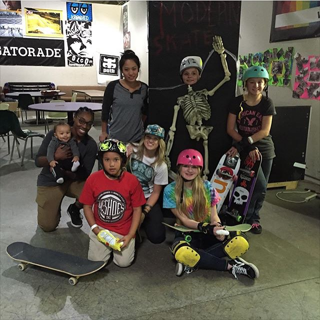 Rad sesh today @modernskate with the @michigangrocrew