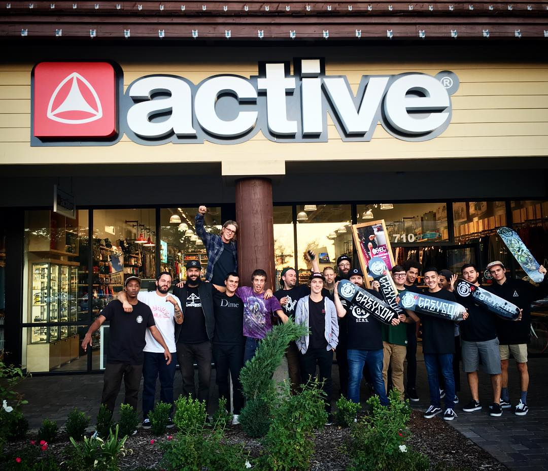Just dropped by @activefresno shop on the @greyson_fletcher pro trip to drop off Greyson's first boards. #greysonispro
