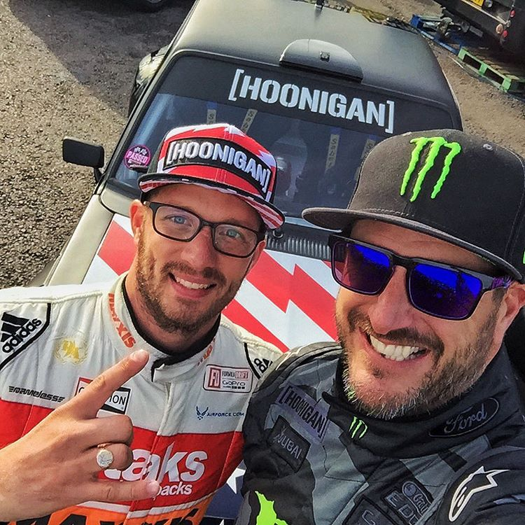 #SelfieSunday yesterday with my buddy/Formula Drift driver @RyanTuerck. This dude kicked ass this weekend in the #GymkhanaEscort, beating out the RWD class winner with only a few laps under his belt (and his first time ever racing Gymkhana). Thanks for...