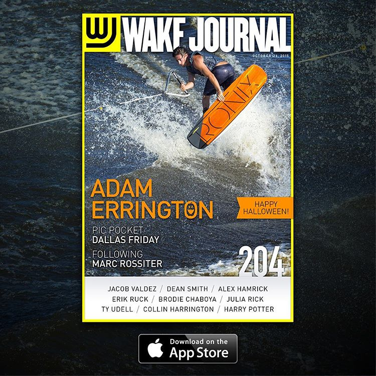 Congrats @adam_errington on landing the new cover of @wakejournal. #ronix2016 #thewilliam #oneloveinwake #fortifiedwithlakevibes