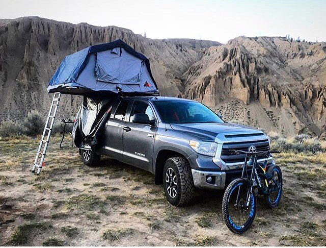 Ok, we're pretty sure @bretttippie wins the camping game. Anyone else jealous of his weekend rig?