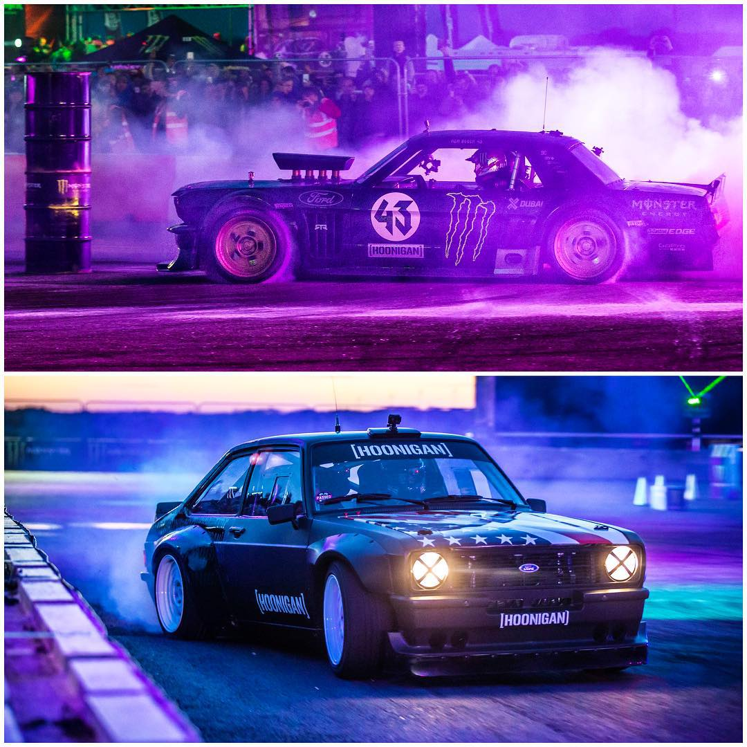 Choose your Hoonventure. Ford Mustang Hoonicorn RTR, or Gymkhana Escort? #Hoonicorn_vs_Mk2 #AWDvsRWD #Hoonicorn #GymkhanaEscort