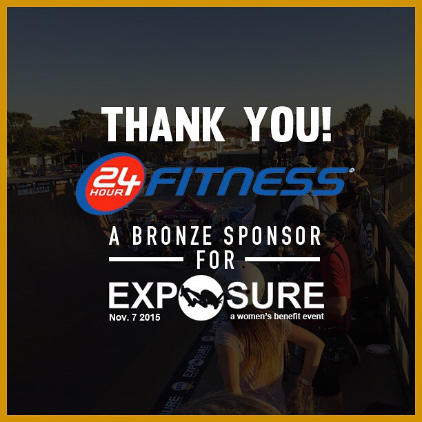 Thank you to @24hourfitness confirmed to be a bronze sponsor for Exposure 2015!! There are plenty of partnership opportunities still available, email partnerships@exposureskate.org to find out how you can help empower girls through skateboarding!