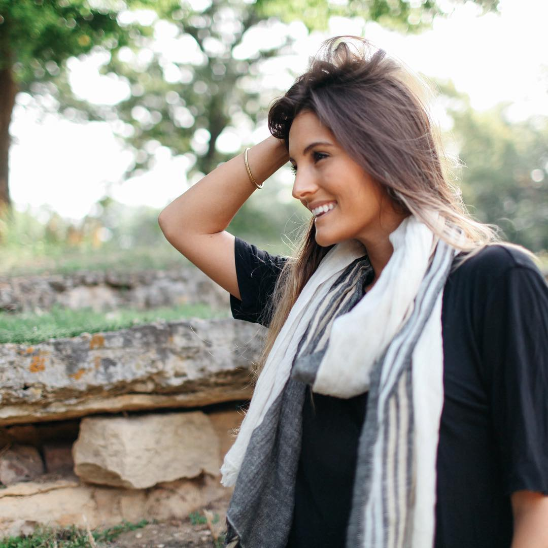 Set yourself up Fall. 4-tone Hemp scarf woven in Kathmandu.