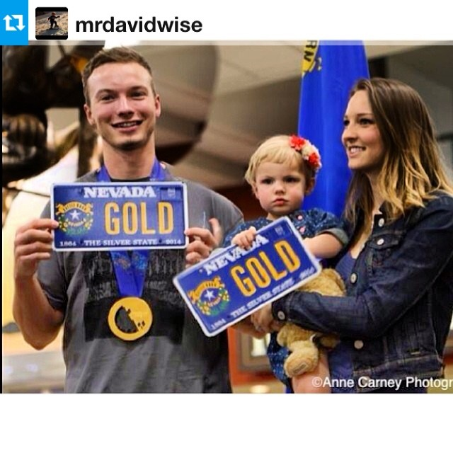 Welcome home @mrdavidwise and a happy David Wise Day everyone. #GotTheGold #riderowned