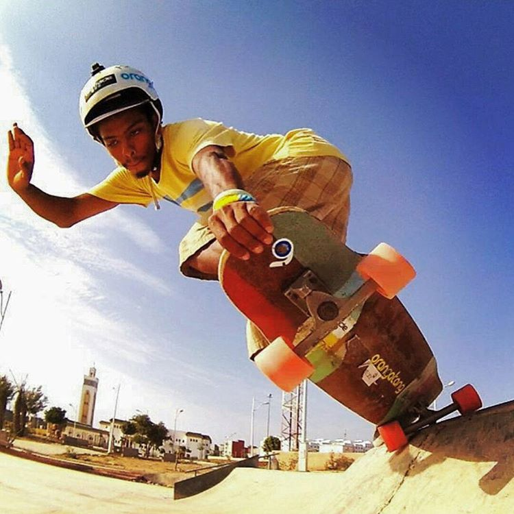 #Regram from our #LoadedAmbassador @yassineboundouq backside 5-0 on his #Tesseract!  #LoadedBoards #MoroccanLongboarding  #orangatang
