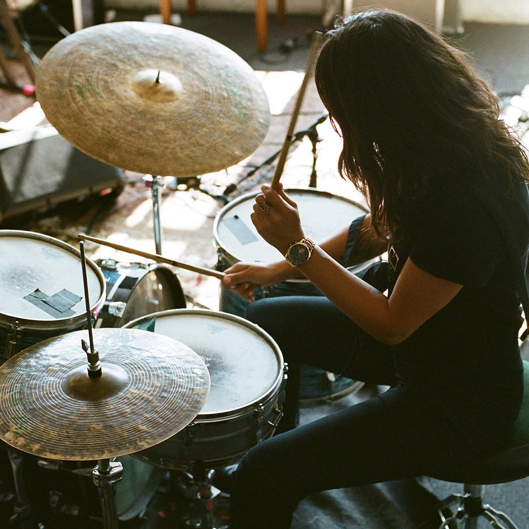 A tour de force in the music world @steezmeez's prowess on the drums made us, along with droves of @warpaintwarpaintofficial fans, stand up and take notice. See her film, now playing on Nixon.com/happenings. #NixonNow #bulletchrono