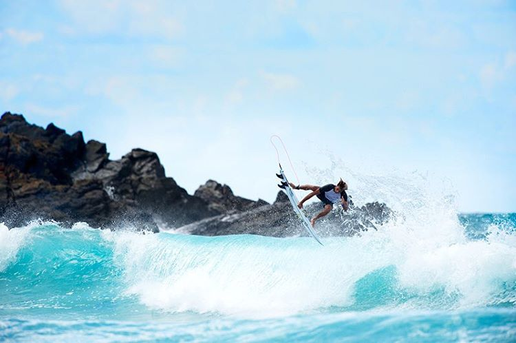 @jackfreestone likes his reverses on the rocks. #lifesbetterinboardshorts #WeBackJack