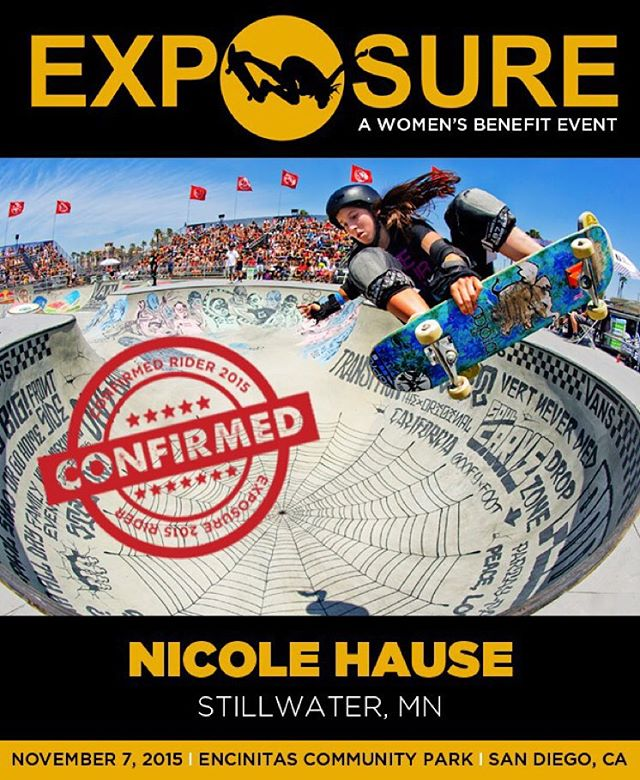 Nicole Hause (@nicolehause) confirmed for EXPOSURE 2015!