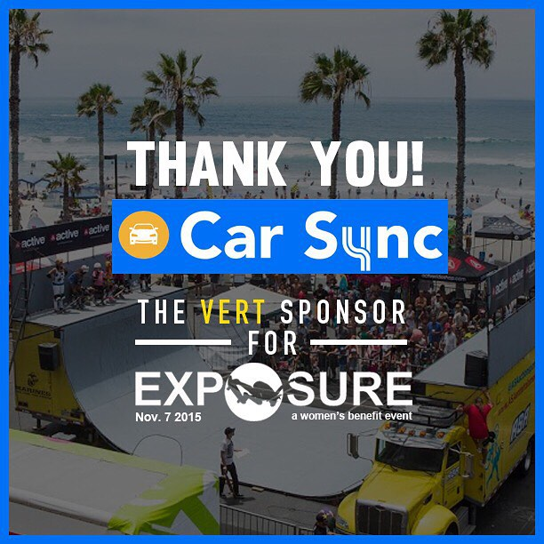 Thank you to Car Sync for being our vert sponsor for Exposure 2015!! Thank you for helping empower girls through skateboarding!