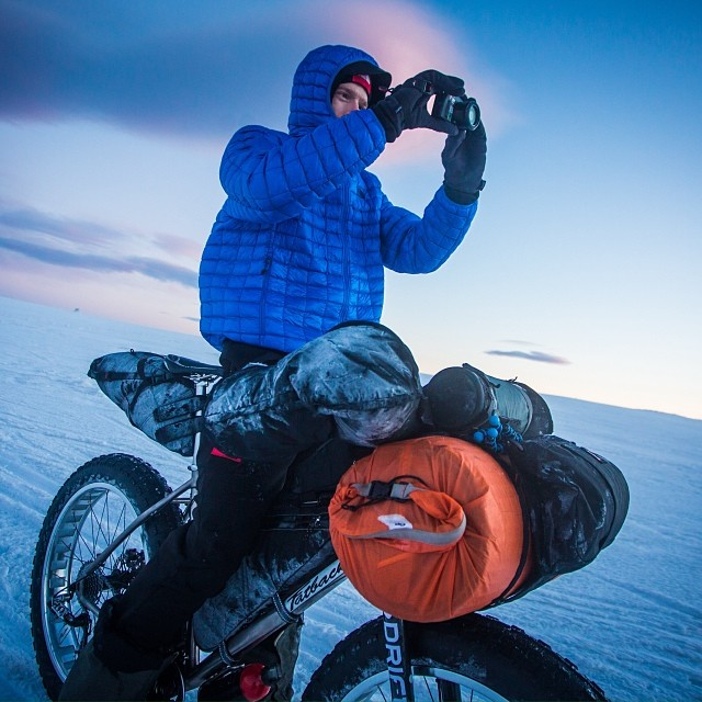 It's a great day for fatbike camping with #cuff. To think that we'll be at #wppi in #Vegas in 2 days is crazy!
