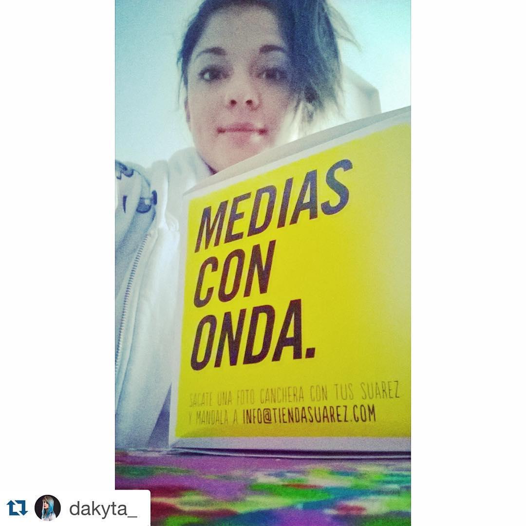 La genia de @dakyta_ con sus #MediasConOnda #LaQueSabeSabe