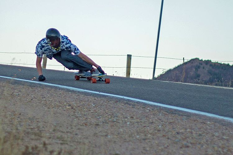 "We are stoked to welcome Troy Fairbanks (@tbanks4444) to the team. Here's a snap of Troy on the Keystone 39"" in Colorado by fellow team rider Garrett Creamer (@garrett_creamer) #dblongboards #dbkeystone #longboard #longboarding #goskate"